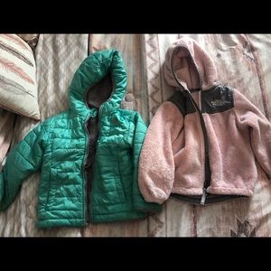Girls north face coats